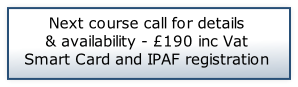 Next course call for details